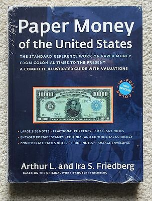Paper Money of the United States Friedberg catalog 19th ed, NEW, FREE SHIP color