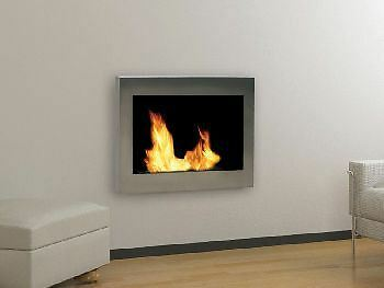 Anywhere Indoor Wall Mount Fireplace-Soho Stainless Steel