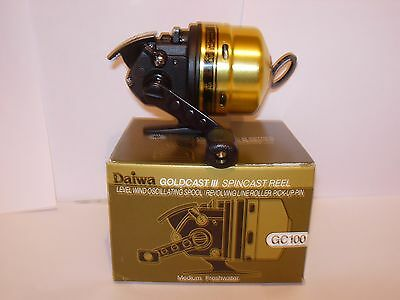 DAIWA GOLDCAST III GC100 Spincast Fishing Reel MEDIUM LIGHT 8lb
