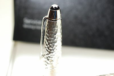 Montblanc Legrand Solitaire Martele Sterling Silver Nib Size M New Fountain Pen