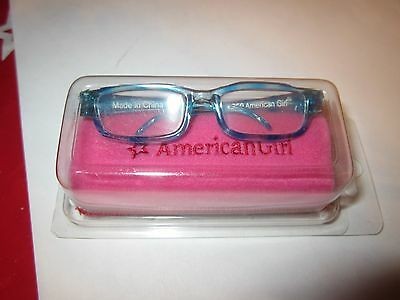 """American Girl MY AG TURQUOISE  GLASSES for 18"""" Dolls Accessory Eye Pink Case NIP"""