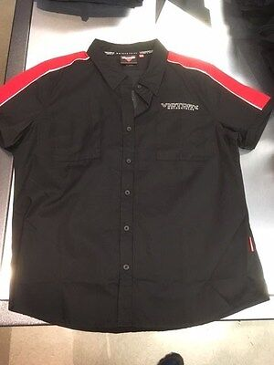 Victory Motorcyle Ladies Dealer Pit Short Sleeve Shirt 2863599