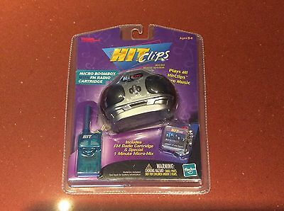 Hit Clips Micro Boombox w/ FM Radio Cartridge & Special 1 Minute Mix NEW Sealed