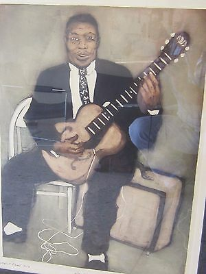"""'howlin' Wolf"""" By Susan Dysinger, Artist Proof #2 Of 10, Nicely Framed/matted"""