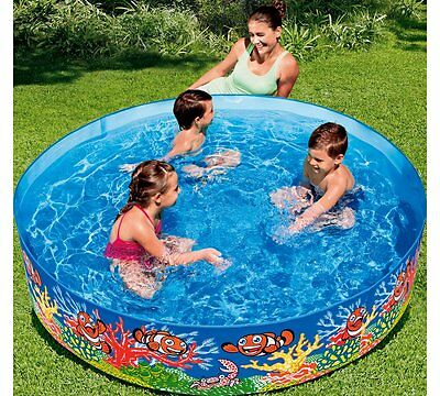 NEW Chad Valley Ocean Garden Paddling Pool 6ft Summer Kids Party Pools Outdoor