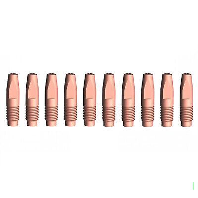 MIG Contact Tips - 0.8mm FRONIUS Style - 10 pack - M6 x 6 x 0.8mm-AL2300 - AW250