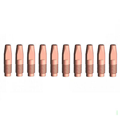 MIG Contact Tips - 1.0mm FRONIUS Style- 10 pack - M6 x 6 x 1.0mm-AL2300 - AW2500