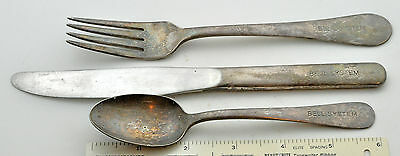 BELL SYSTEM TELEPHONE Company silverware knife fork spoon set lot made by Victor