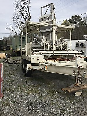 Tower Solutions  PTM-100 Mobile Telescopic Tower Trailer for Communication w/Gen