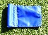 (1) Replacement Solid BLUE Colored Jr Golf Flag for our 30""