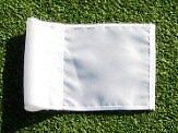 (1) Replacement Solid White Colored Jr Golf Flag for our 30""
