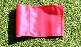 "(1) Replacement Solid RED Colored Jr Golf Flag for our 30"" P"