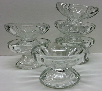 6 Vintage Libbey Glass Ice Cream Bowls,  Soda Fountain Scoop Sherbet Dishes