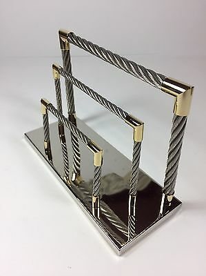 Silver Plated and Metal Wired Letter, Mail, and Document Sorter