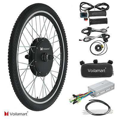 48V Electric Bicycle Motor Conversion Kit 1000W Front Wheel Exercise Bike Cycle