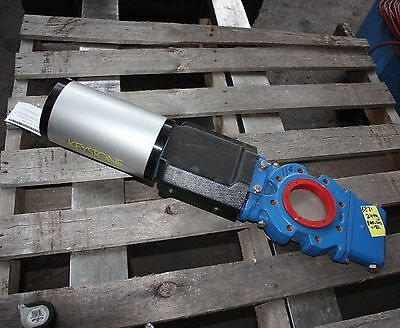 "Keystone ported slide knife gate valve K479S F955 4"" INCH DN100 AIR actuated"