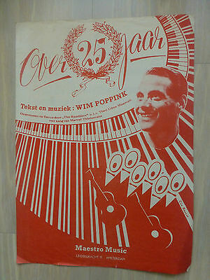 Wim Poppink - Over 25 Jaar  (4-Pagina Sheet ) Orig. 1951