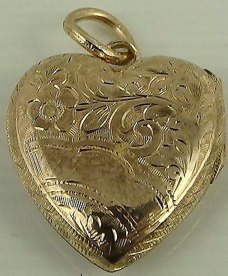 Antique 9ct Gold back and front engraved rose gold locket