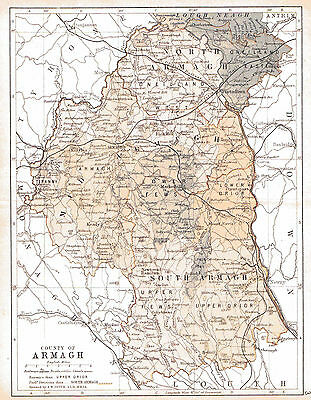 3 maps of County Armagh & Ireland, dated 1840 & 1897 & an Ulster fact sheet.