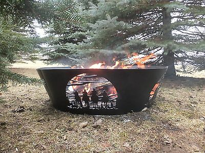 Decorative fire pit ring