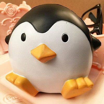 New Squishy Penguin Squeeze Stretch Soft Slow Rising Strap Decompression Toy10cm