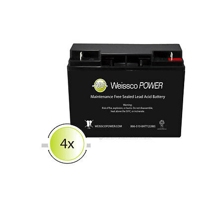 Mighty Max 4 Pack - ML18-12 - 12V 18AH UPS Replacement Battery for APC RBC11, RB