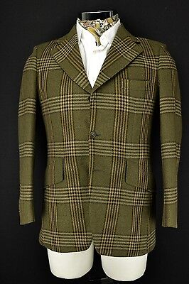 "Vintage Magee 3 Button Gamekeeper Check Blazer Jacket 38"" Short"