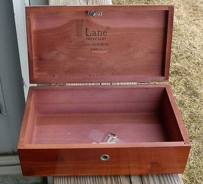 Vintage Lane Miniature Cedar Chest & Key Lash Furniure Barre Vermont