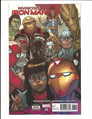 INVINCIBLE IRON MAN # 5 (MAY 2017), NM NEW (Bagged & Boarded)