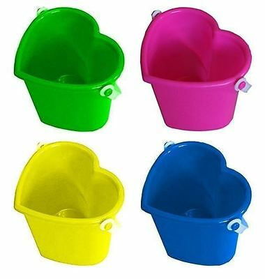 10 Assorted Colour Beach Love Heart Shape Bucket Sandpit Holiday Toy Gift Kids