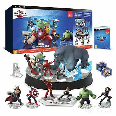 New Disney Infinity 2.0 PS3 Collector's Edition Marvel Super Heroes Set Official