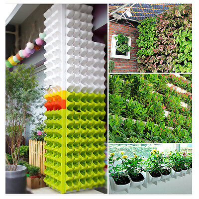 Stackable 2-Pocket Wall Planter Hanging Flower Pot Home Garden Balcony Decor