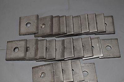 """Unistrut P1063 SS 3/8"""" Stainless Steel Square Washer Channel QTY 25"""