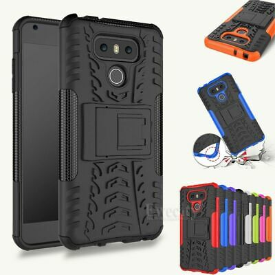 Hybrid Rugged Shockproof Armor Grip Rubber Hard Stand Case Cover For LG Phone