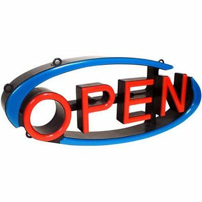 MYSTIGLO LED Open Swivel Sign, Remote w/Flashing, Horizontal or Vertical