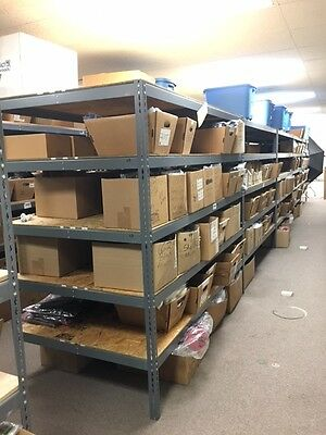 """36"""" x 96"""" x 84 Boltless Double Rivet Steel Wide Span Shelving With Wood Deck"""