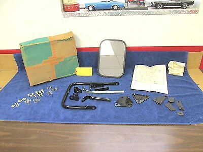 1960-63 Chevy / Gmc Truck  Deluxe Jr  Side Rear View Mirror  Nos Gm 317