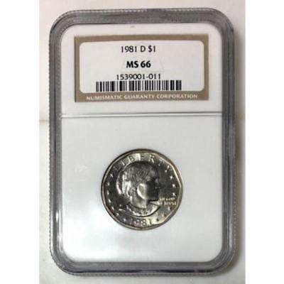 1981 D Susan B Anthony Dollar NGC MS66 ***Rev Tye's Coin Stache*** #101115