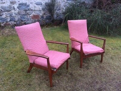 Pair of Vintage Danish Style  Parker Knoll Armchairs