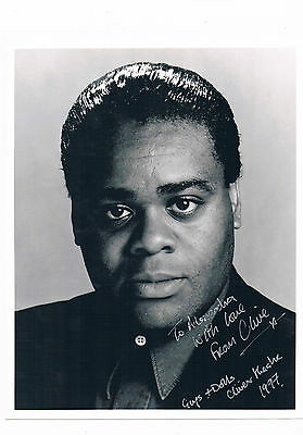 Clive Rowe - Actor Dr Who Tracy Beaker Hand Signed Photograph & Letter