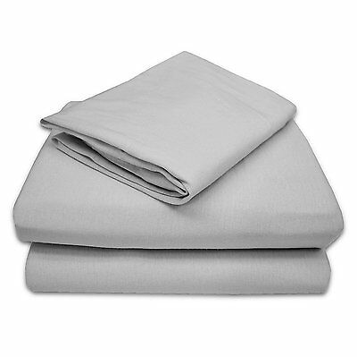 TL Care 100% Jersey Cotton 3 Piece Toddler Sheet Set, Gray 2430