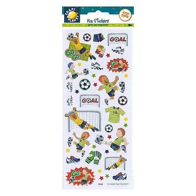 Craft Planet Childrens / Boys Fun Foiled Footie / Football Stickers | A92
