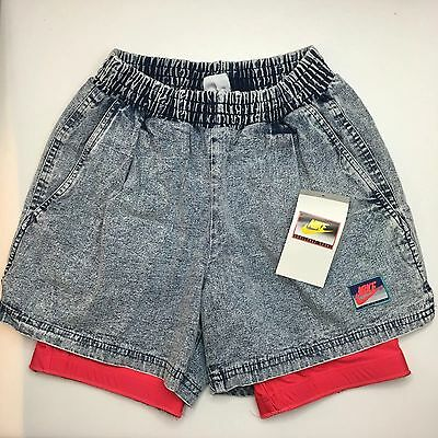 VINTAGE NEW Nike Challenge Court Shorts Denim Pink Agassi 1980s 90s DS NWT