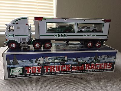 1997 Hess Toy Truck and Racers (w/ Original Box)