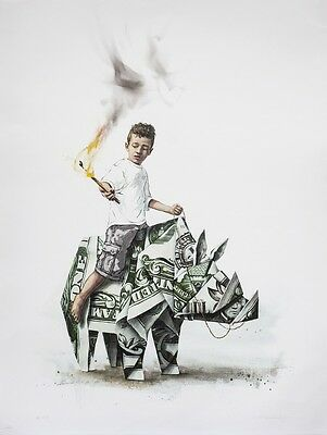 "Ernest Zacharevic ""Splash and Burn"" Signed Limited Edition Print"