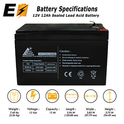 12V 12 Amp NP12 12Ah SLA Battery For Modified EZIP Scooter 650 750 900 F2