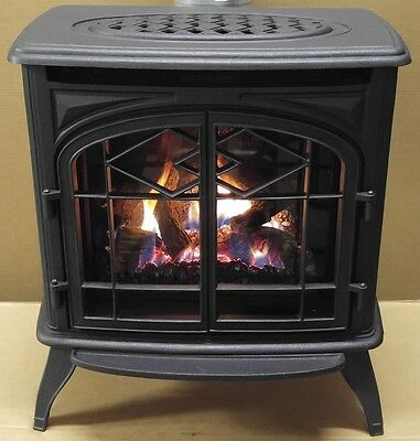 Thelin Echo DV Gas Heater- Natual Gas or LP  - Painted Black