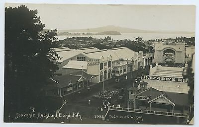 1913-14 Rp Pu Postcard Auckland Ind/agr/mining Exhibition Nz Local Photo. D9