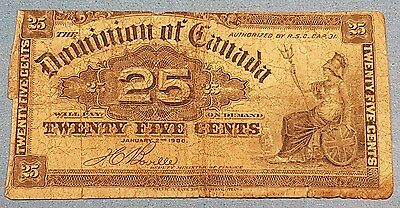 1900 Dominion of Canada 25 Cent Bank Note   ID #95-16
