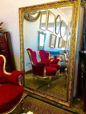 Closing Down.make Offer  Extra Large French Gold Floor / Mantle Bevelled Mirror.